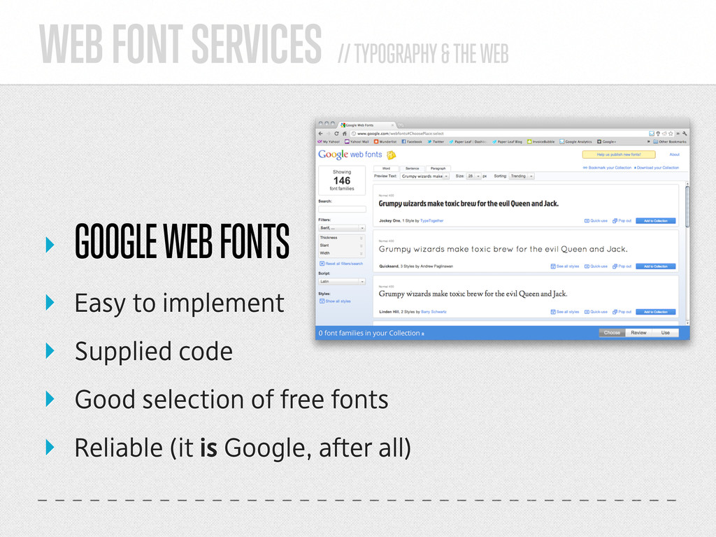 WEB FONT SERVICES // TYPOGRAPHY & THE WEB ‣ GOO...
