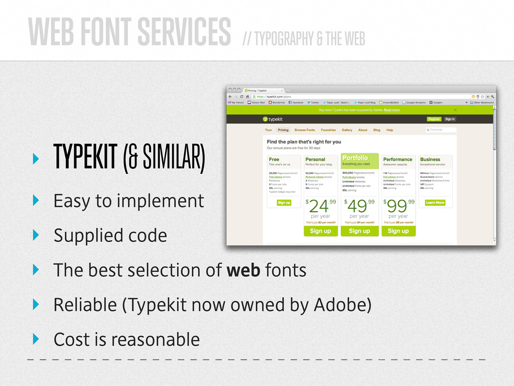 WEB FONT SERVICES // TYPOGRAPHY & THE WEB ‣ TYP...