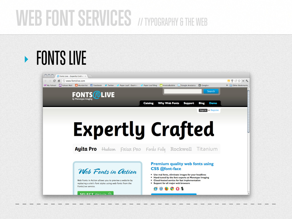 WEB FONT SERVICES // TYPOGRAPHY & THE WEB ‣ FON...