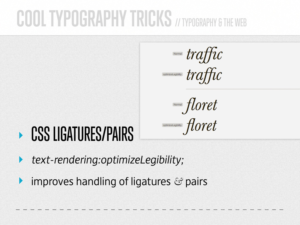 COOL TYPOGRAPHY TRICKS // TYPOGRAPHY & THE WEB ...