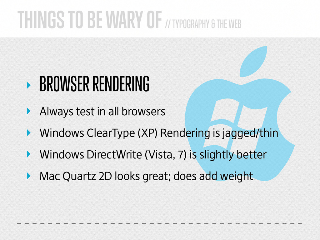 THINGS TO BE WARY OF // TYPOGRAPHY & THE WEB ‣ ...