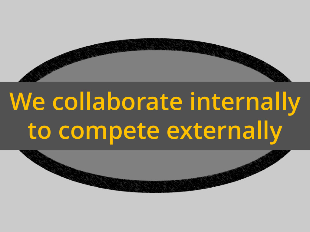 We collaborate internally to compete externally