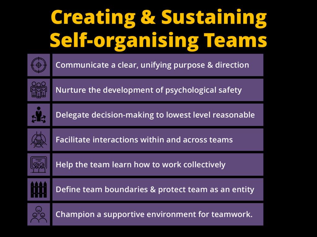 Creating & Sustaining Self-organising Teams Com...