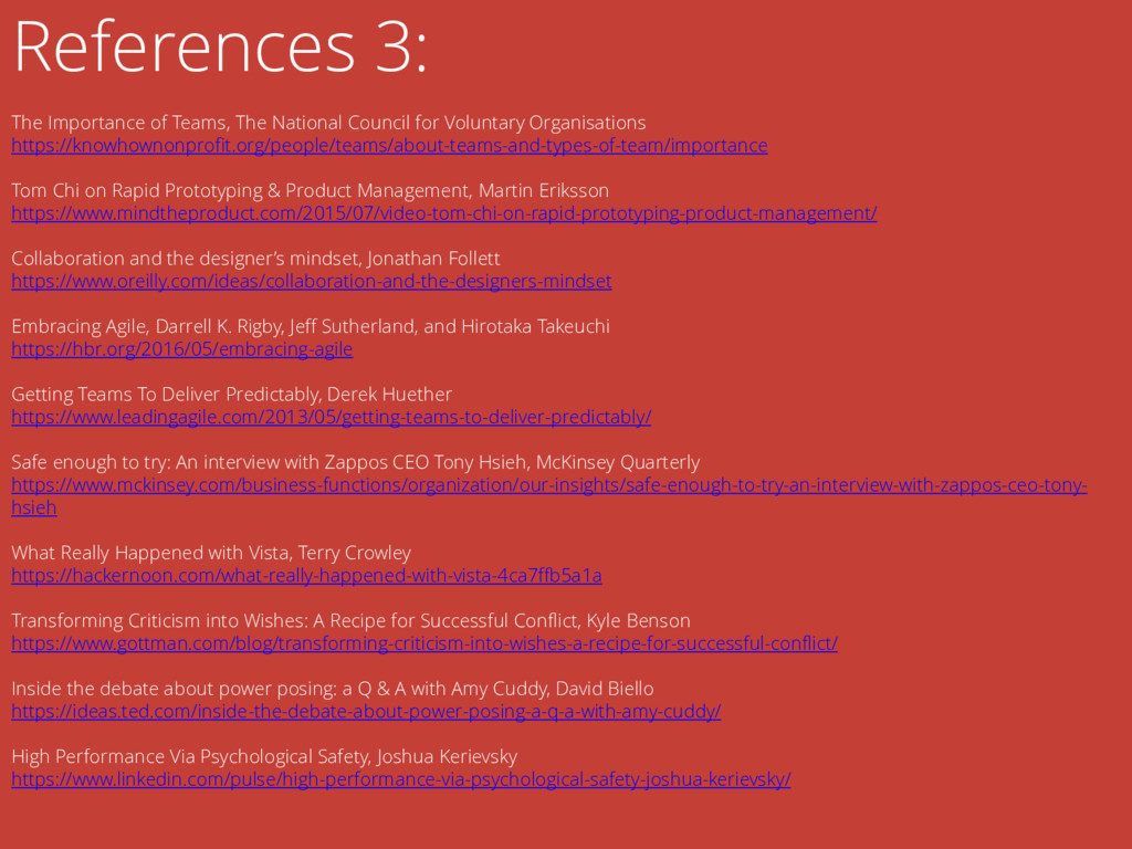 References 3: The Importance of Teams, The Nati...