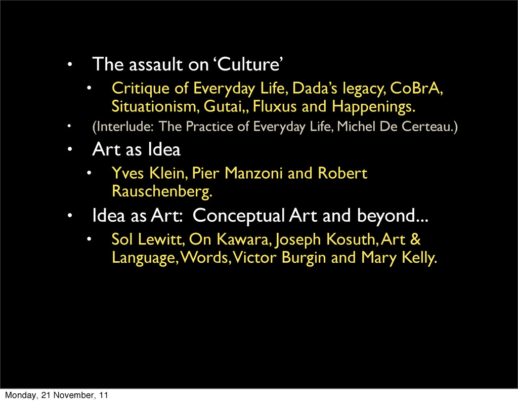• The assault on 'Culture' • Critique of Everyd...