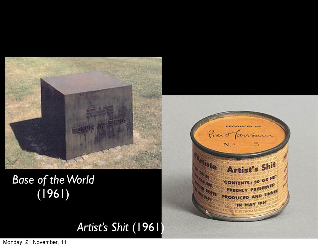 Artist's Shit (1961) Base of the World (1961) M...