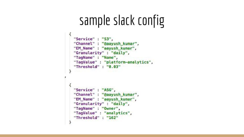 sample slack config