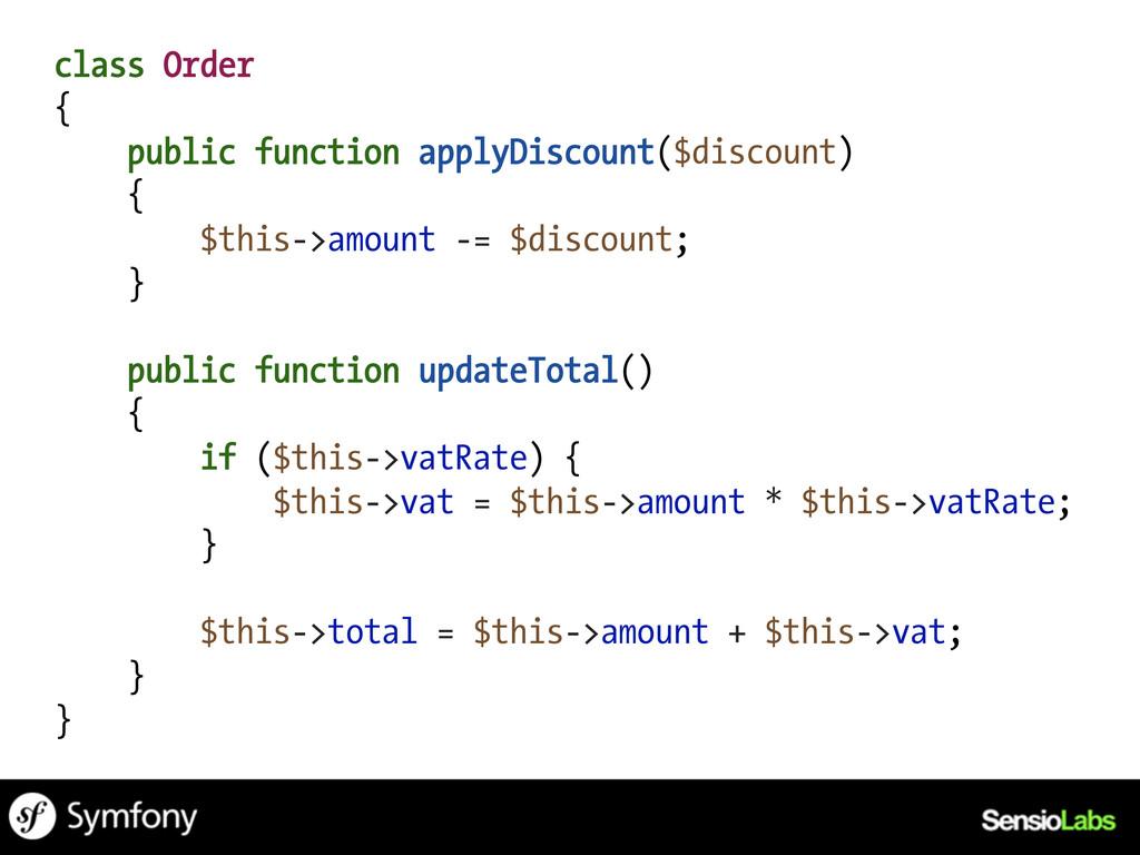 class Order { public function applyDiscount($di...