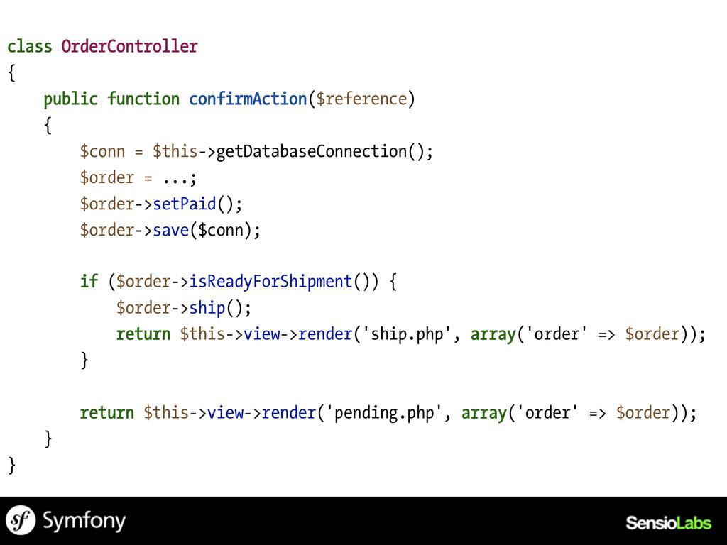class OrderController { public function confirm...