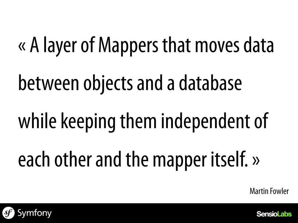 « A layer of Mappers that moves data between ob...
