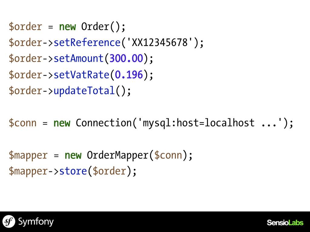$order = new Order(); $order->setReference('XX1...