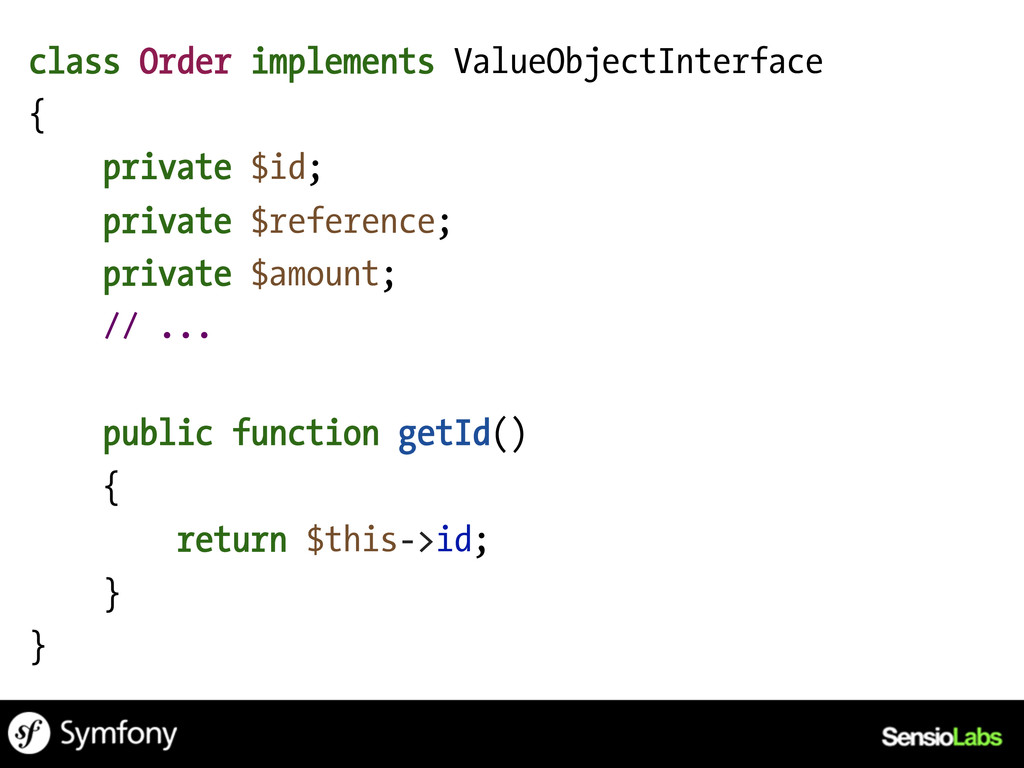 class Order implements ValueObjectInterface { p...