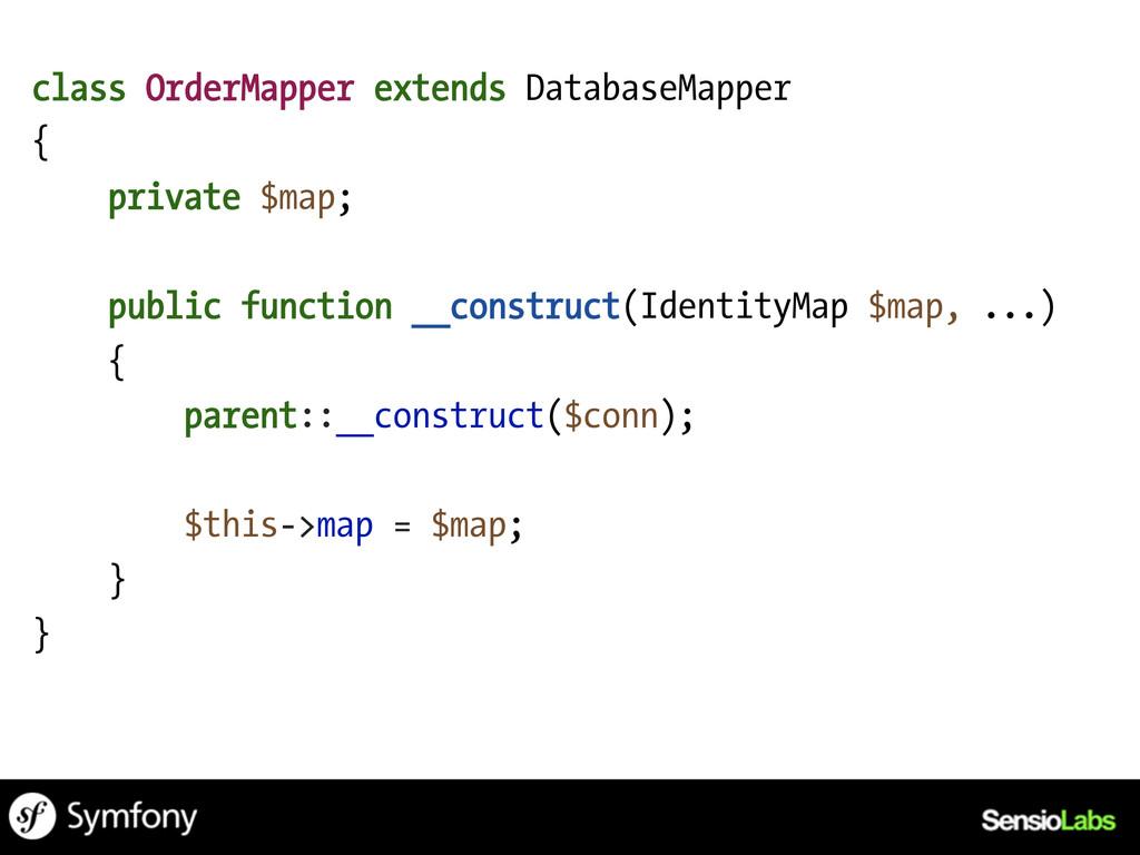 class OrderMapper extends DatabaseMapper { priv...