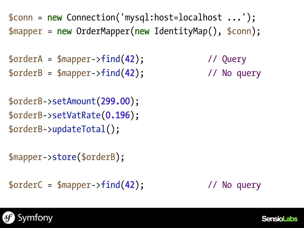 $conn = new Connection('mysql:host=localhost .....