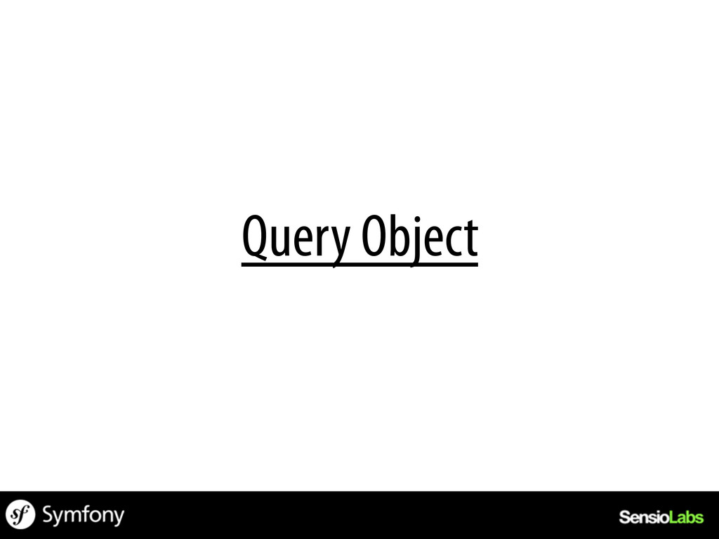 Query Object