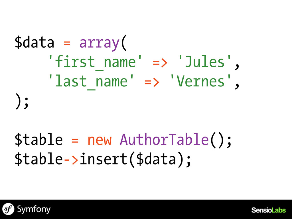$data = array( 'first_name' => 'Jules', 'last_n...