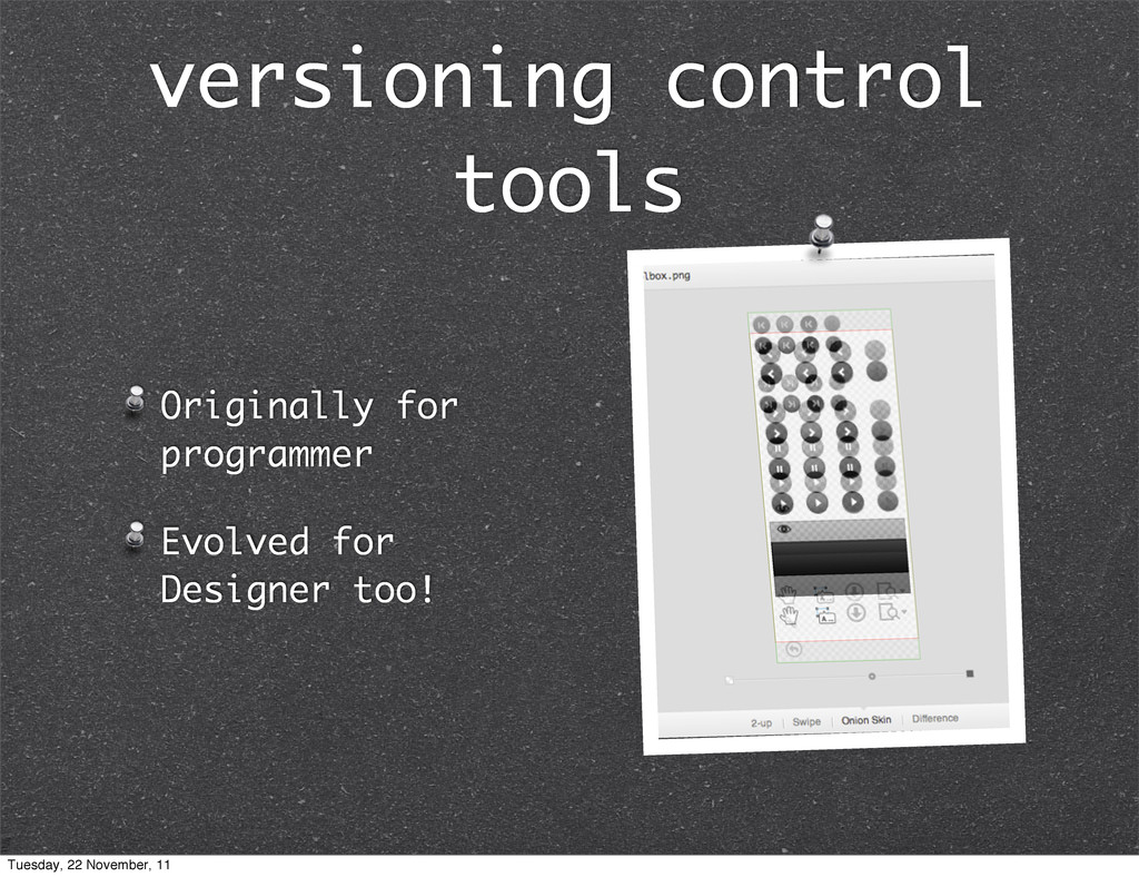 versioning control tools Originally for program...