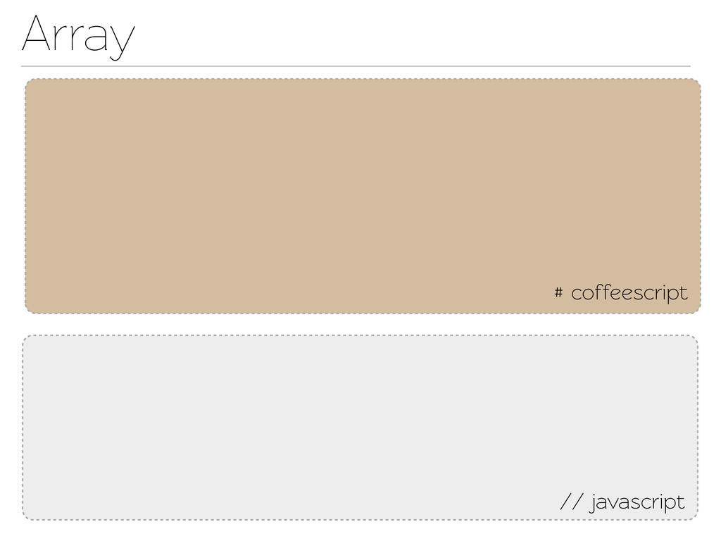 Array # coffeescript // javascript