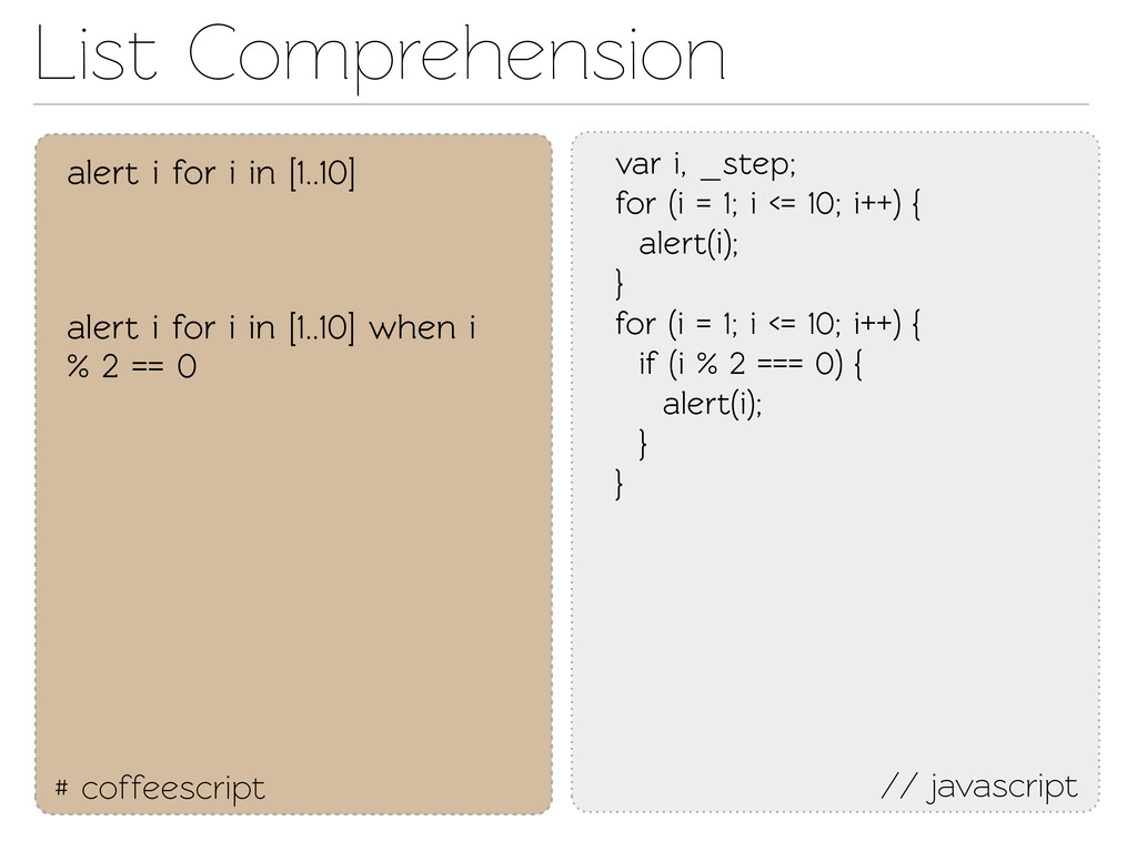 List Comprehension # coffeescript // javascript...