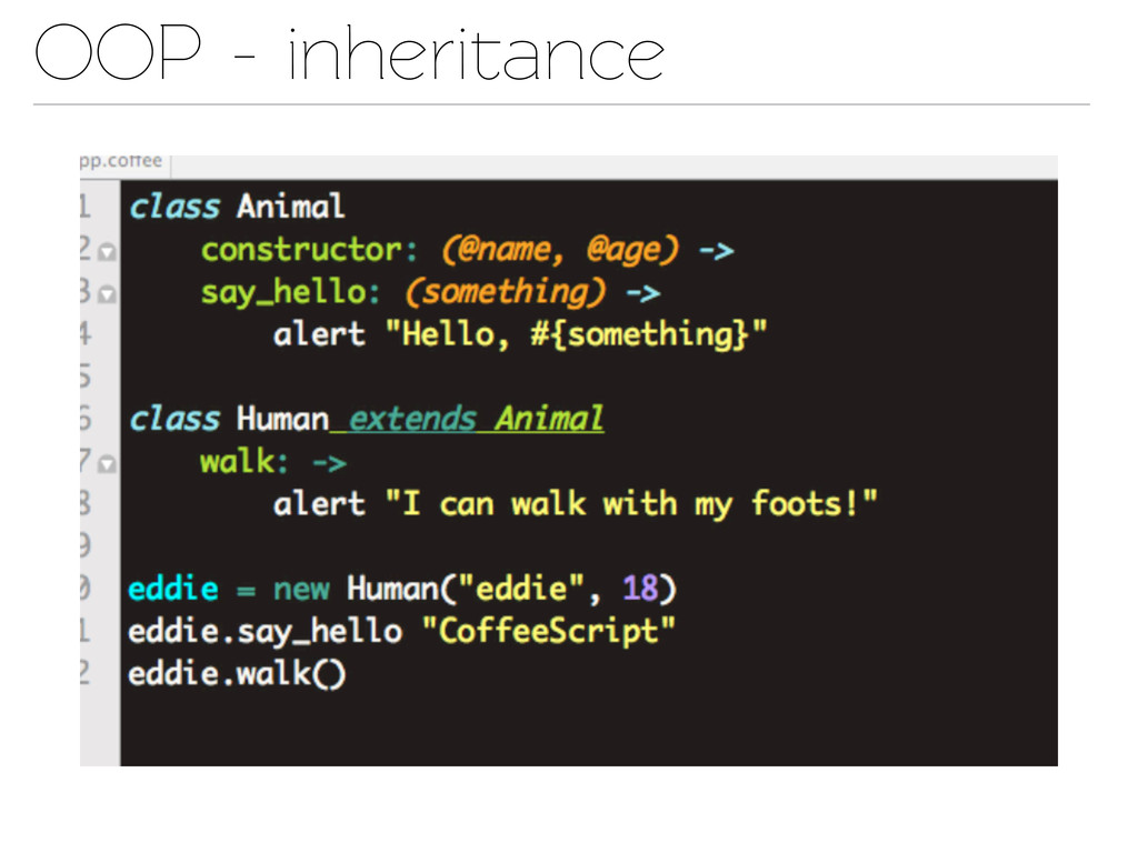OOP - inheriance