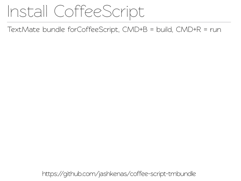 Insall CoffeeScript TextMae bundle forCoffeeS...