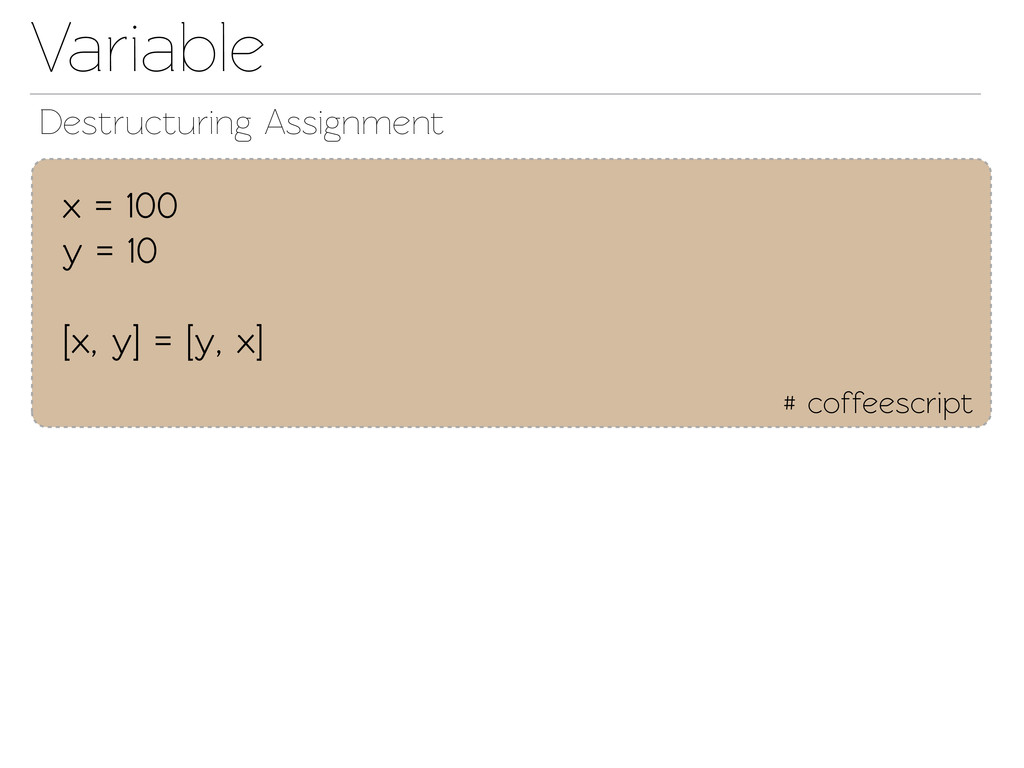 Variable Destructuring Assignment # coffeescrip...