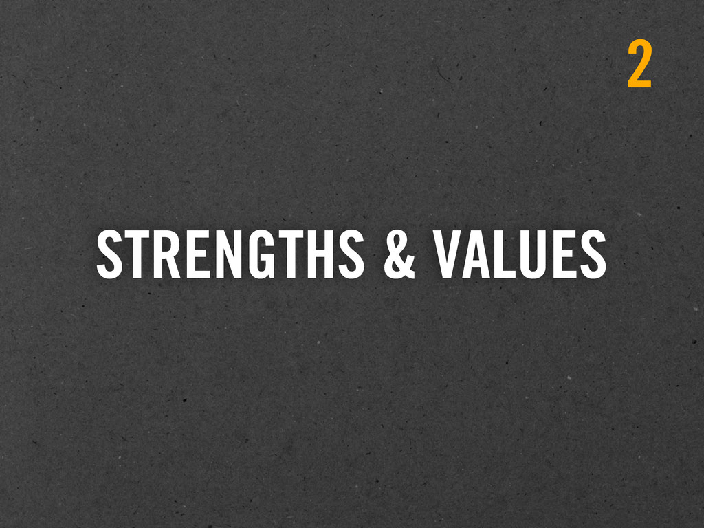 STRENGTHS & VALUES 2