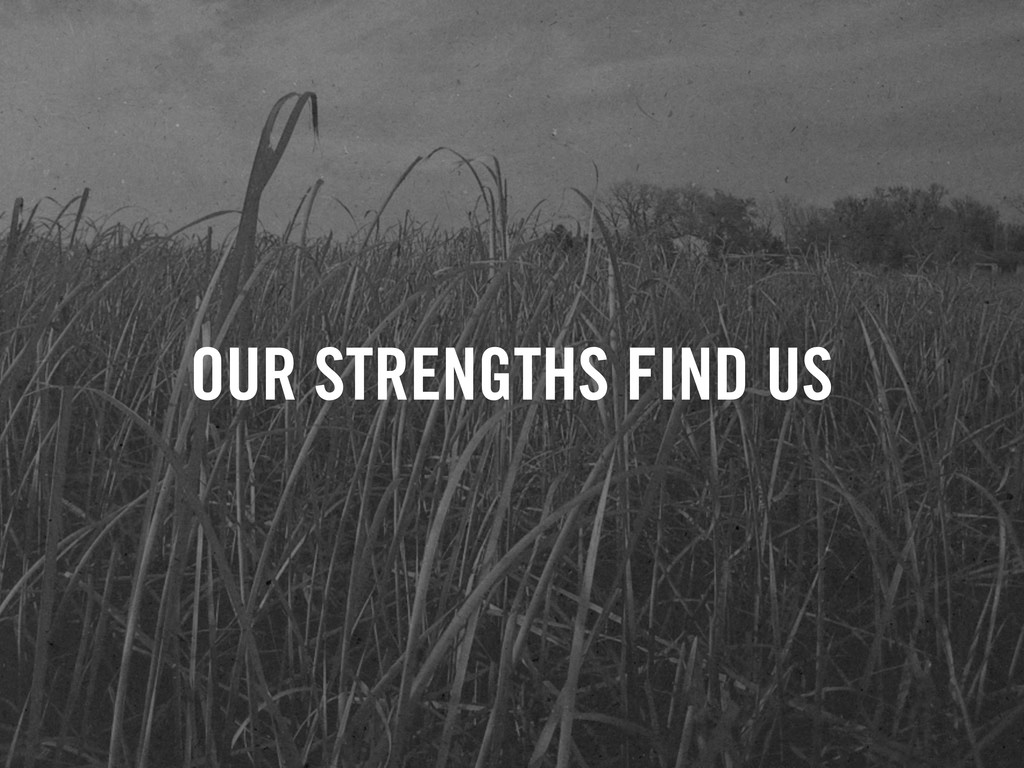 OUR STRENGTHS FIND US