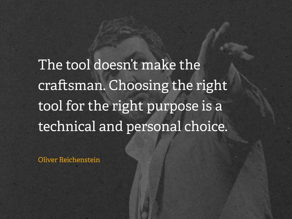 The tool doesn't make the cra sman. Choosing th...