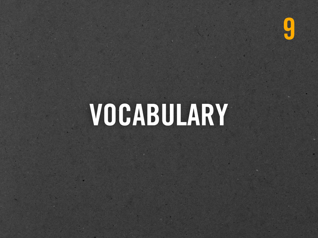 VOCABULARY 9