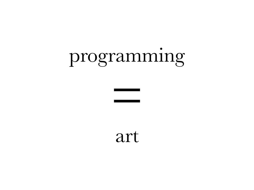 programming = art
