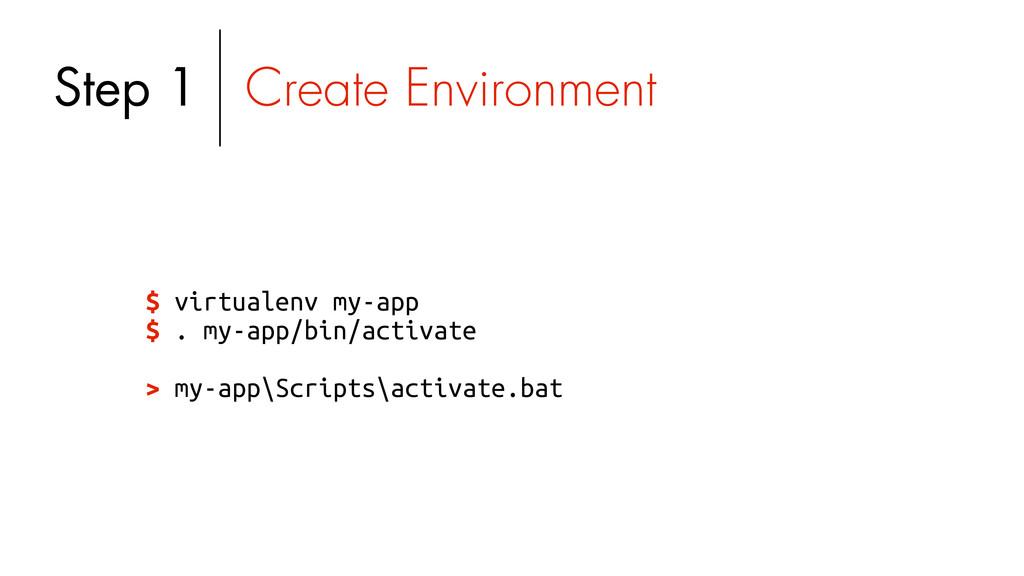 $ virtualenv my-app $ . my-app/bin/activate > m...