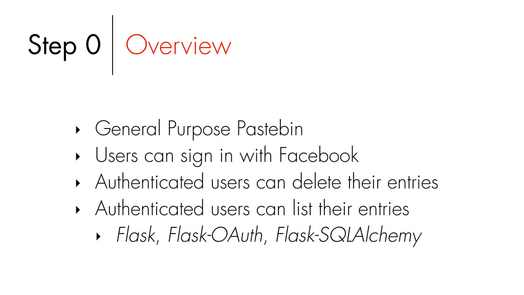 Step 0 Overview ‣ General Purpose Pastebin ‣ Us...
