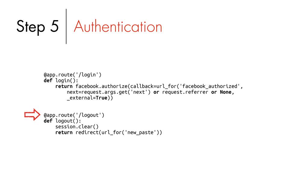 @app.route('/login') def login(): return facebo...