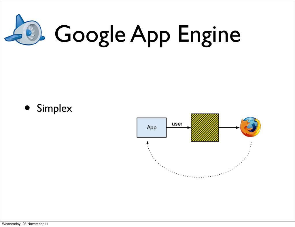 Google App Engine • Simplex Wednesday, 23 Novem...