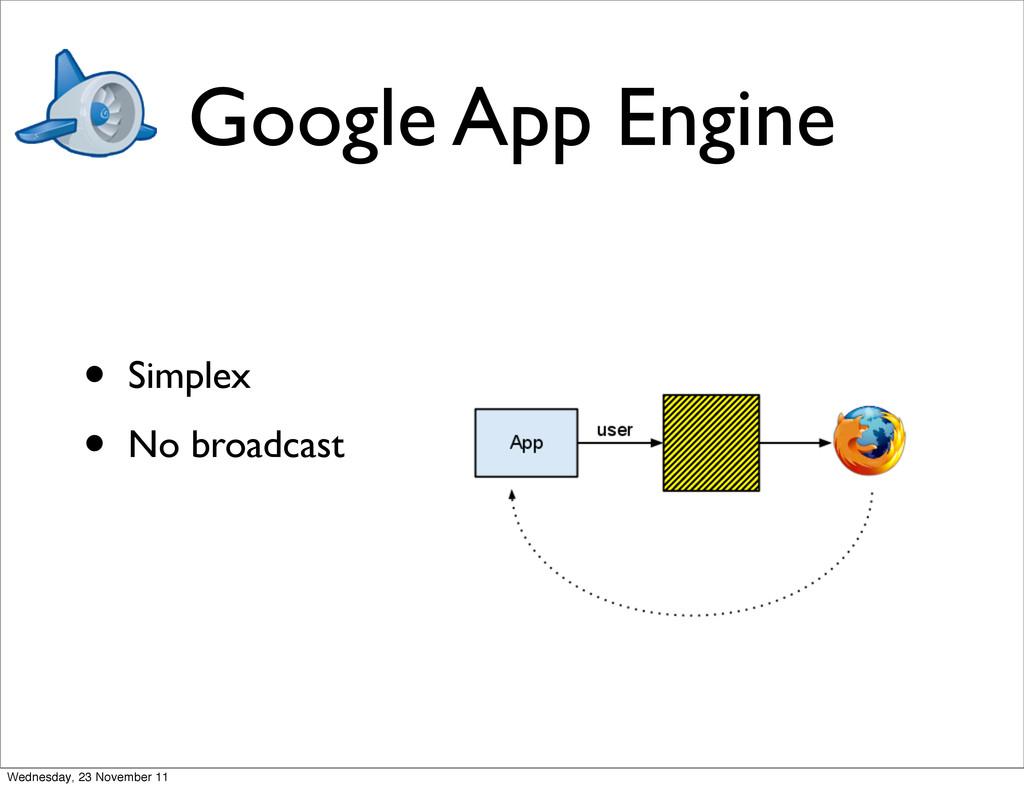 Google App Engine • Simplex • No broadcast Wedn...