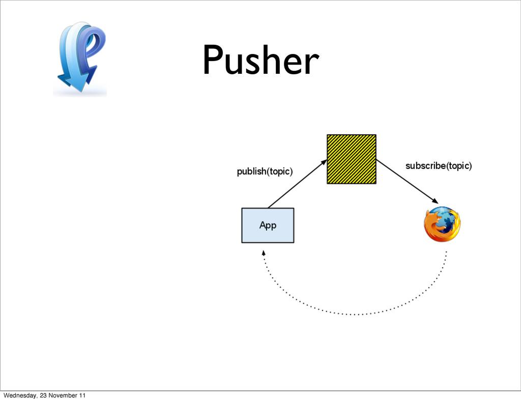 Pusher Wednesday, 23 November 11