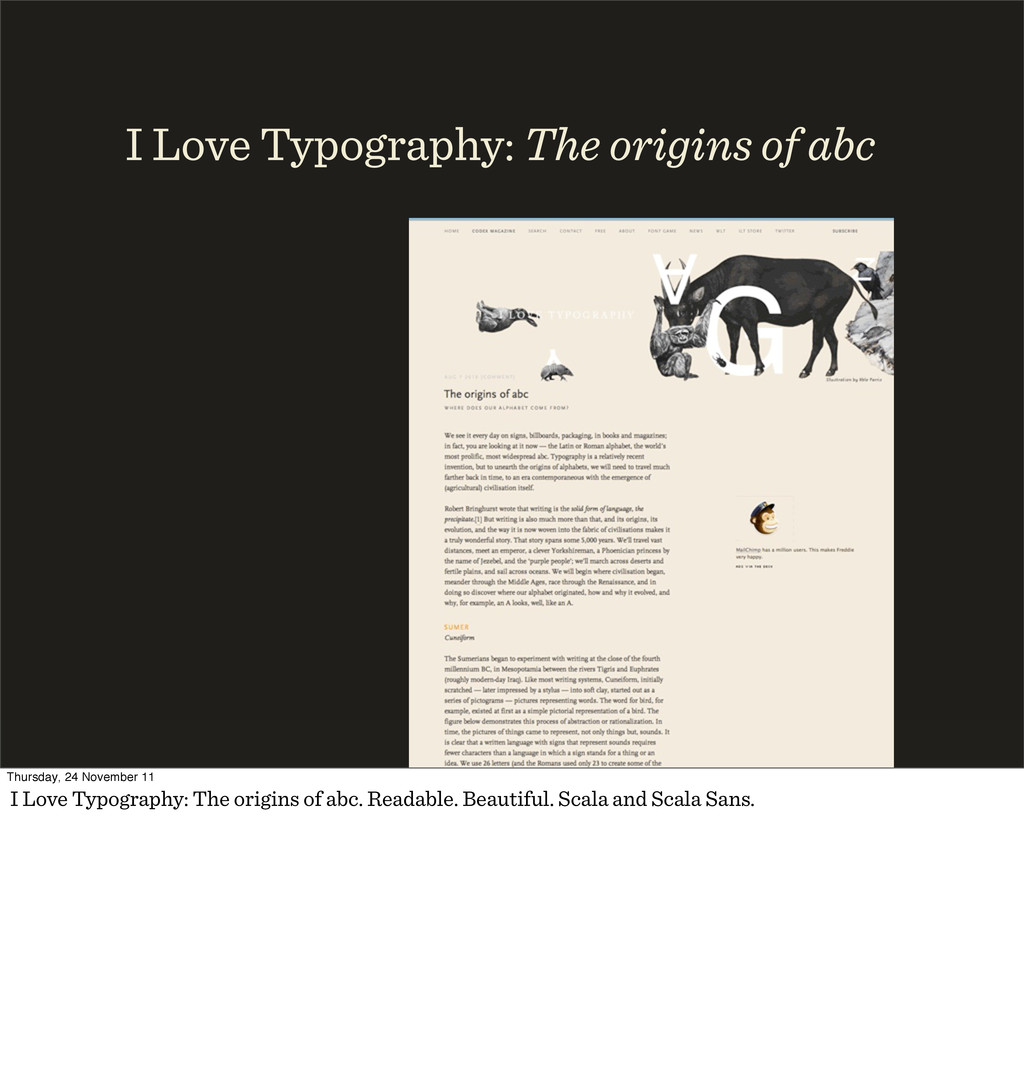 I Love Typography: The origins of abc Thursday,...
