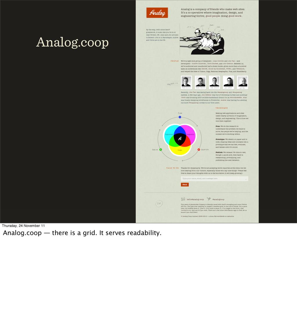 Analog.coop Thursday, 24 November 11 Analog.coo...