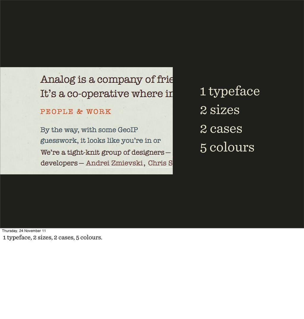typeface sizes cases colours Thursday, 24 Novem...