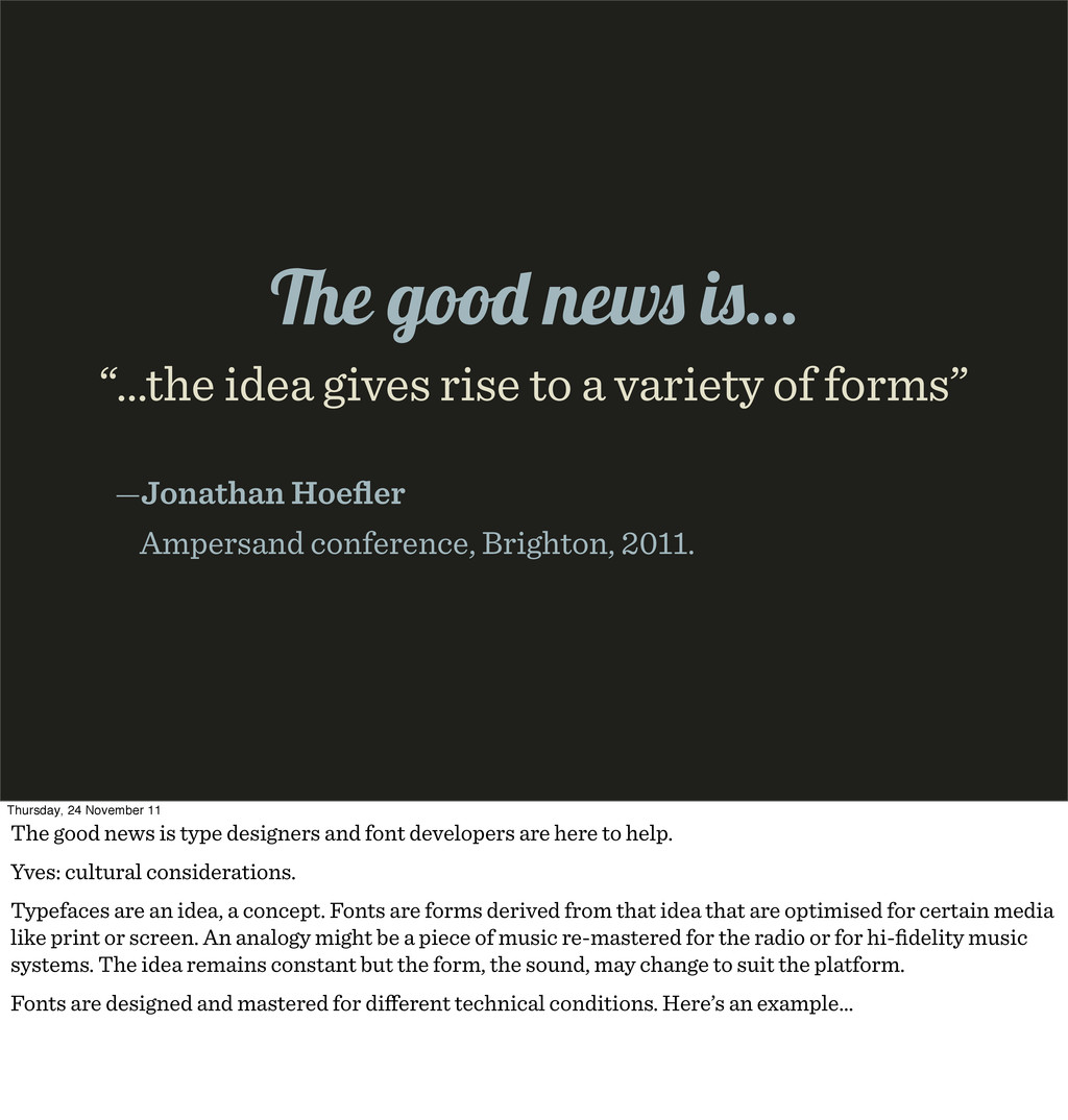 """…the idea gives rise to a variety of forms"" —J..."