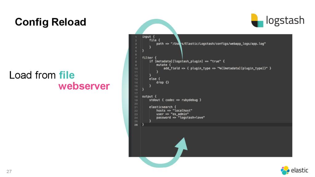 27 Config Reload Load from file webserver