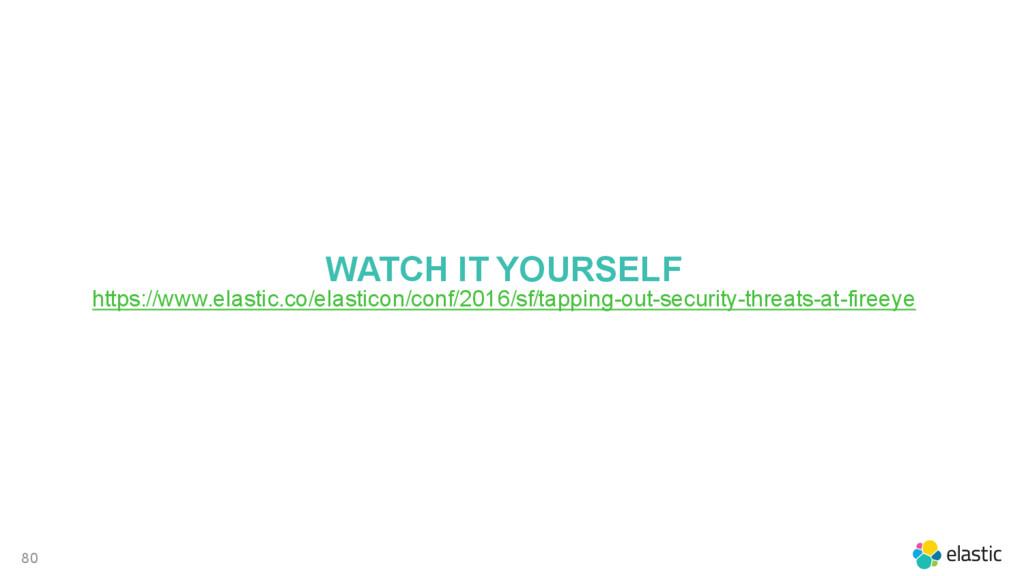80 WATCH IT YOURSELF https://www.elastic.co/ela...