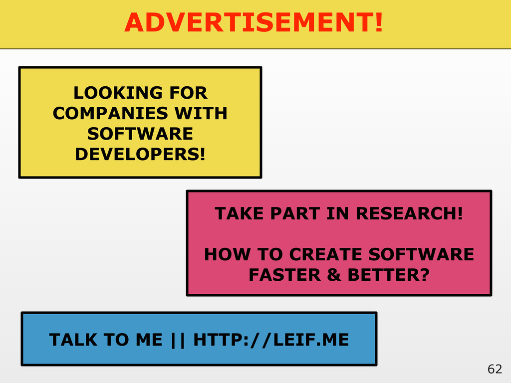 ADVERTISEMENT! 62 LOOKING FOR COMPANIES WITH SO...