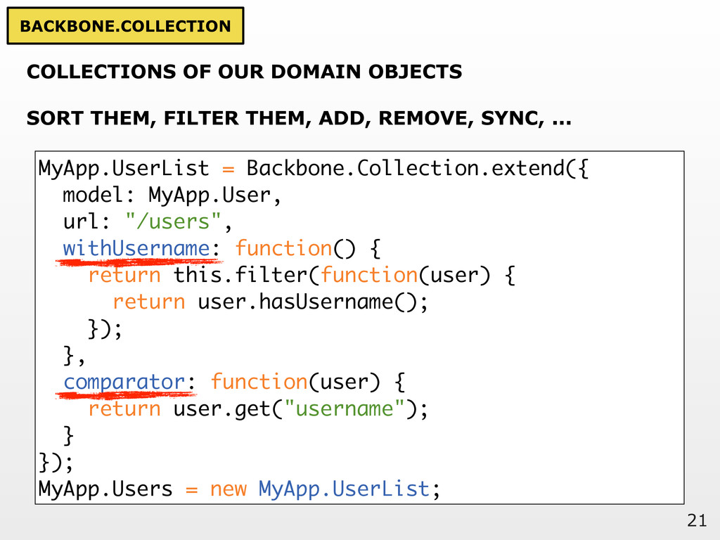 21 COLLECTIONS OF OUR DOMAIN OBJECTS SORT THEM,...