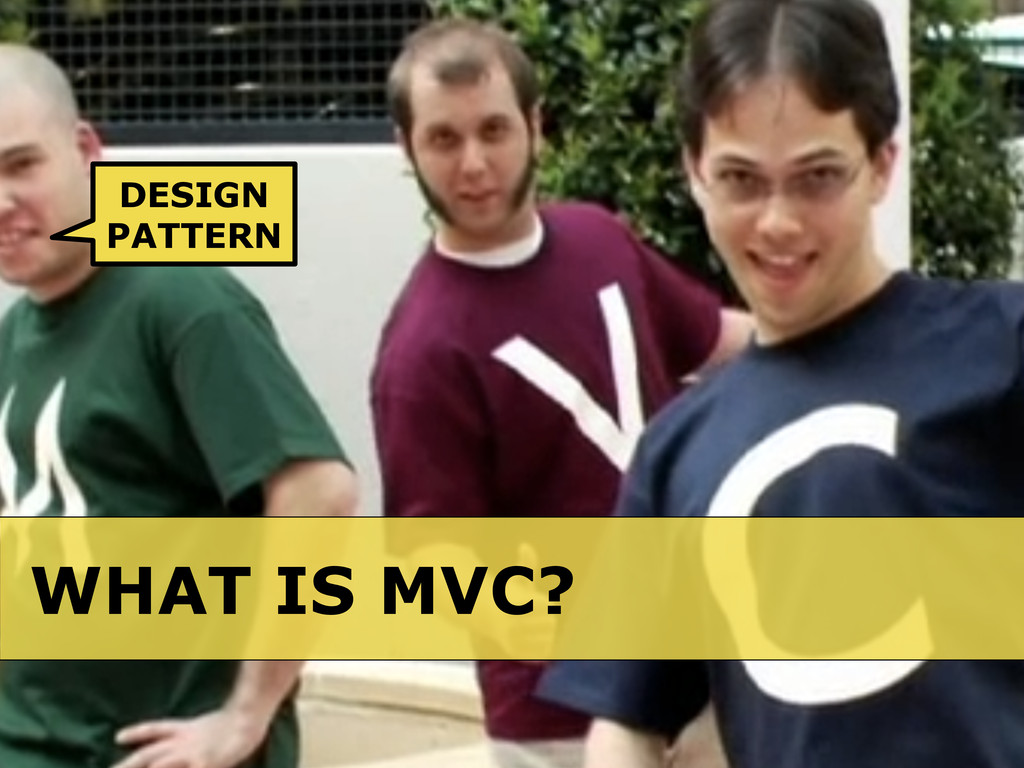 WHAT IS MVC? DESIGN PATTERN