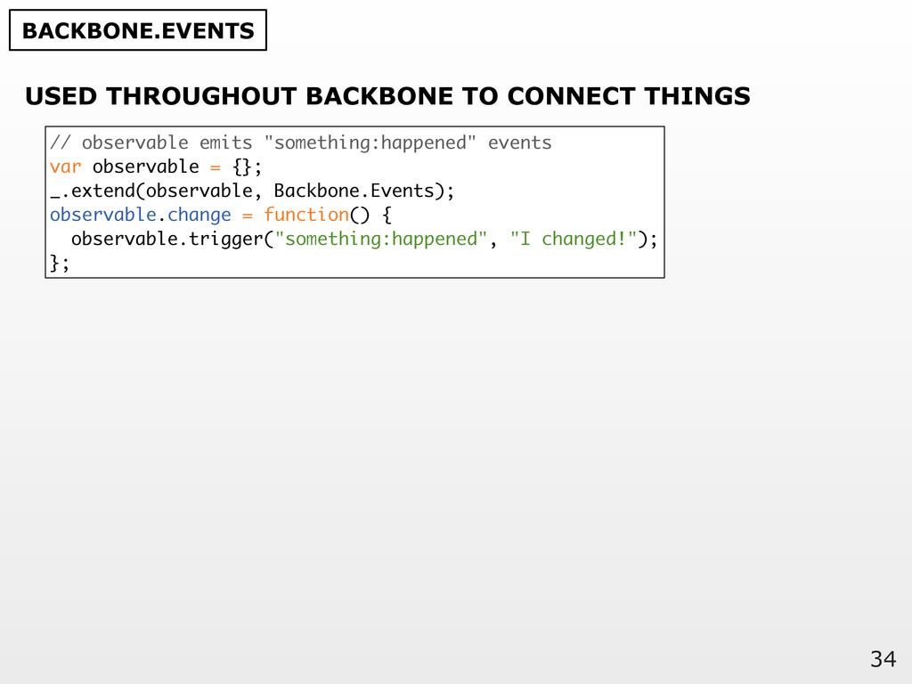 34 USED THROUGHOUT BACKBONE TO CONNECT THINGS B...
