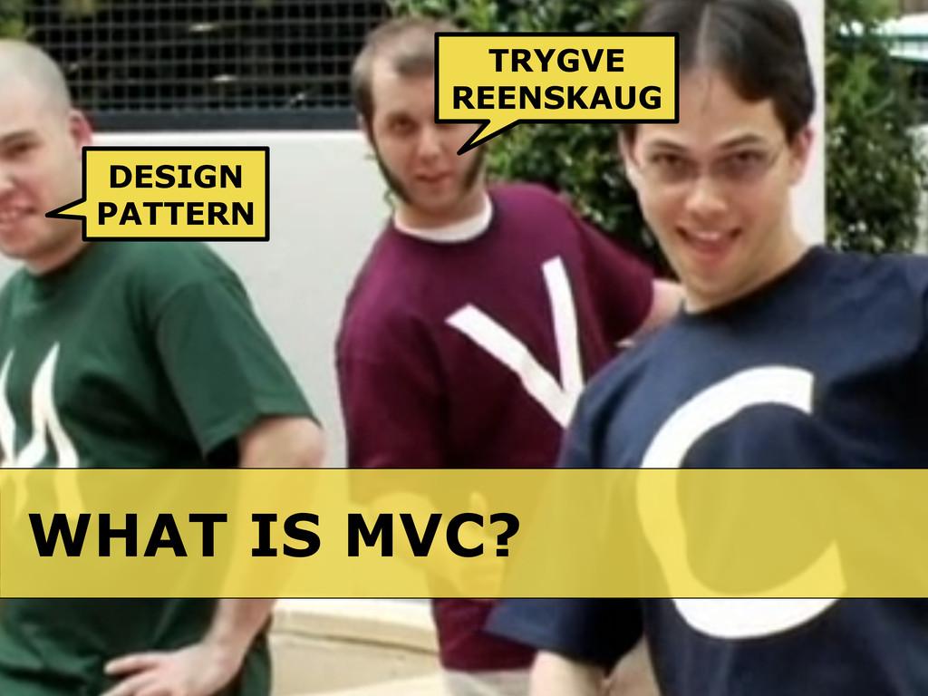 WHAT IS MVC? DESIGN PATTERN TRYGVE REENSKAUG