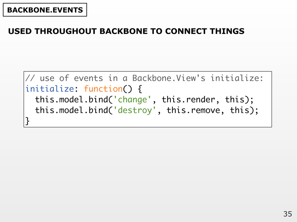 35 // use of events in a Backbone.View's initia...