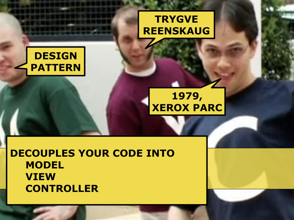 WHAT IS MVC? DESIGN PATTERN TRYGVE REENSKAUG 19...